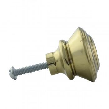 <PRE>2 Cabinet Knob Classic Brass 1inch Dia </PRE>zoom12