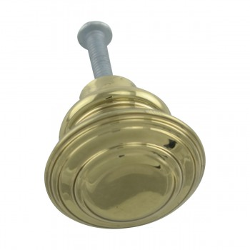 <PRE>2 Cabinet Knob Classic Brass 1inch Dia </PRE>zoom13