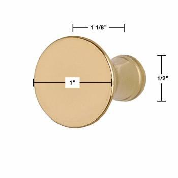 """spec-<PRE>2 Cabinet Knob Classic Brass 1"""" Dia </PRE>"""