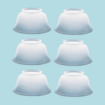 <PRE>6 Lamp Shade White Glass Traditional 3 5/8&quot; H x 4&quot; Fitter </PRE>