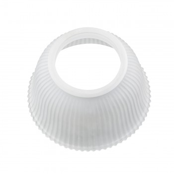"<PRE>6 Lamp Shade White Glass Traditional 3 5/8inch H x 4"" Fitter </PRE>zoom5"