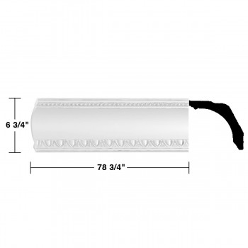 """spec-<PRE>Renovator's Supply Cornice White Urethane Gwendolyn Ornate Design 6 Pieces Totaling 472.5"""" Length</PRE>"""