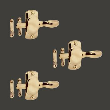 Hoosier Cabinet Latch Finish Brass Pack of 3 Cabinet Catch Cabinet Hardware Cabinet Catches