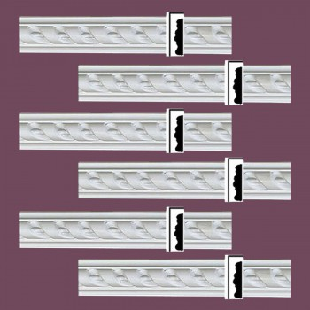 Renovators Supply Crown Molding White Urethane Emily Ornate Design 6 Pieces Totaling 478.5 Length White PrePrimed Urethane Crown Cornice Molding Cornice Crown Home Depot Ekena Millwork Molding Wall Ceiling Corner Cornice Crown Cove Molding