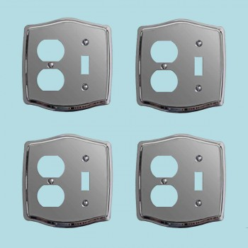 <PRE>4 Switchplate Chrome Toggle/Outlet </PRE>zoom2