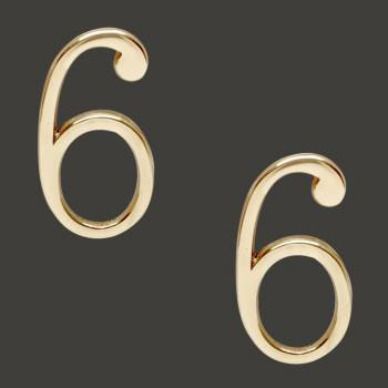 <PRE>Bright Solid Brass 3inch Address House Number '6' '9' Pin Mount Pack of 2</PRE>zoom2
