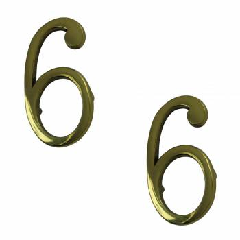 Bright Solid Brass 3 Address House Number 6 9 Pin Mount Pack of 2 Mail Box Numbers Mailbox Numbers House Number