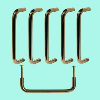 6 Cabinet Pulls Bright Solid Brass Classic Furniture Hardware Cabinet Pull Cabinet Hardware