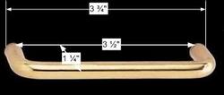 spec-<PRE>6 Cabinet Pulls Bright Solid Brass Classic  </PRE>