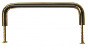 <PRE>6 Cabinet Pulls Bright Solid Brass Plain 4 1/2 Long  </PRE>