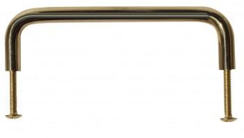 <PRE>6 Cabinet Pulls Bright Solid Brass Plain 4 1/2 Long  </PRE>