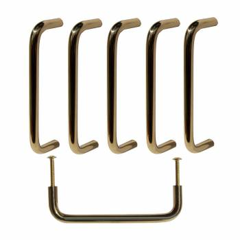 6 Cabinet Pulls Bright Solid Brass Plain 4 12 Long Furniture Hardware Cabinet Pull Cabinet Hardware