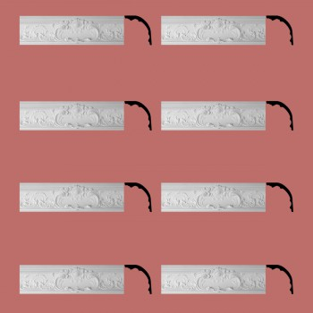 Renovators Supply Cornice White Urethane Sidartha Ornate Design 8 Pieces Totaling 625 Length White PrePrimed Urethane Crown Cornice Molding Cornice Crown Home Depot Ekena Millwork Molding Wall Ceiling Corner Cornice Crown Cove Molding