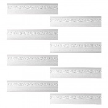 <PRE>Renovator's Supply Cornice White Urethane Pearl Ornate Design 8 Pieces Totaling 632inch Length</PRE>zoom1