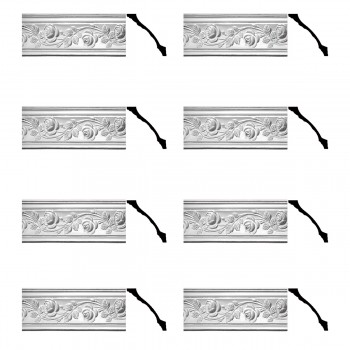 <PRE>Renovator's Supply Cornice White Urethane Bridge Of Flowers Ornate  8 Pieces Totaling 616inch Length</PRE>zoom1
