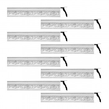 <PRE>Renovator's Supply Ornate Cornice White Urethane Vineyard Design 8 Pieces Totaling 627inch Length</PRE>zoom1