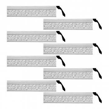 <PRE>Renovator's Supply Cornice White Urethane Leaf Ornate Design 8 Pieces Totaling 592inch Length</PRE>zoom1