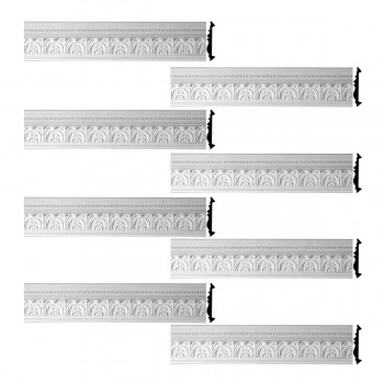 <PRE>Renovator's Supply Cornice White Urethane Etienne Ornate Design 8 Pieces Totaling 599inch Length</PRE>zoom1
