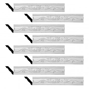 <PRE>Renovator's Supply Ornate Cornice White Urethane Ava Design 8 Pieces Totaling 634inch Length</PRE>zoom1