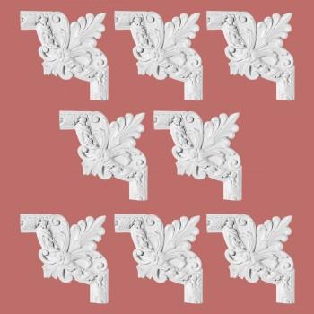 <PRE>Renovator's Supply Door Trim White Urethane Foam Corner Design 8 Pieces Totaling 80inch Length</PRE>zoom2
