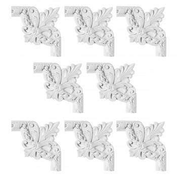 <PRE>Renovator's Supply Door Trim White Urethane Foam Corner Design 8 Pieces Totaling 80inch Length</PRE>zoom1
