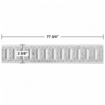 "spec-<PRE>Renovator's Supply Chair Rail White Urethane Railing Design 8 Pieces Totaling 622"" Length</PRE>"