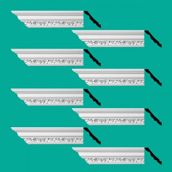 <PRE>Renovator's Supply Ornate Cornice White Urethane Zoe Design 8 Pieces Totaling 752inch Length</PRE>zoom2
