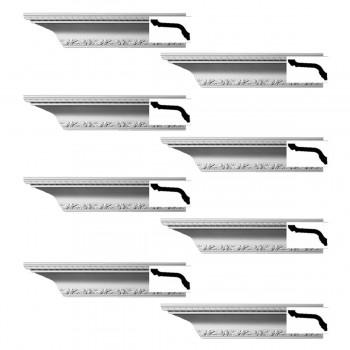 <PRE>Renovator's Supply  Ornate Cornice White Urethane Design 8 Pieces Totaling 752inch Length</PRE>zoom1