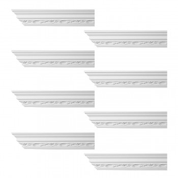 <PRE>Renovator's Supply Ornate Cornice White Urethane Elisabetta Design 8 Pieces Totaling 768inch Length</PRE>zoom1