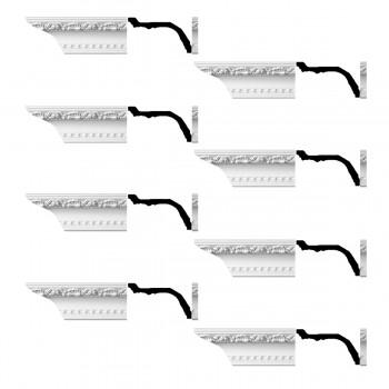 <PRE>Renovator's Supply Ornate Cornice White Urethane Giovane Design 8 Pieces Totaling 768inch Length</PRE>zoom1