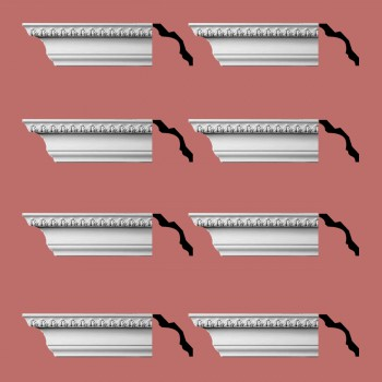 <PRE>Renovator's Supply Cornice White Urethane Bishop's Waltham Ornate  8 Pieces Totaling 752inch Length</PRE>zoom2