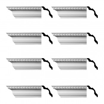 <PRE>Renovator's Supply Cornice White Urethane Bishop's Waltham Ornate  8 Pieces Totaling 752inch Length</PRE>zoom1