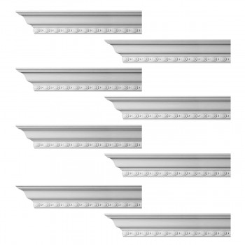 <PRE>Renovator's Supply Cornice White Urethane Exeter Ornate Design 8 Pieces Totaling 768inch Length</PRE>zoom1
