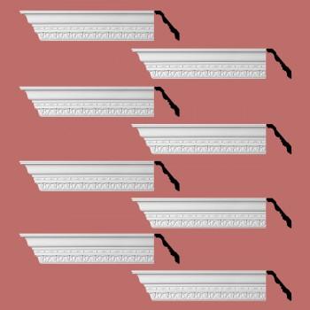 <PRE>Renovator's Supply Cornice White Urethane Kingsbridge Ornate Design 8 Pieces Totaling 768inch Length</PRE>zoom2