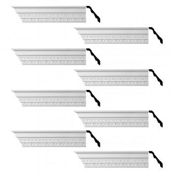 <PRE>Renovator's Supply Cornice White Urethane Kingsbridge Ornate Design 8 Pieces Totaling 768inch Length</PRE>zoom1