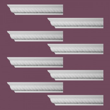 <PRE>Renovator's Supply Ornate Cornice White Urethane Queensborough Design 8 Pieces Totaling 768inch Length</PRE>zoom1