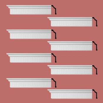 <PRE>Renovator's Supply Ornate Cornice White Urethane Sunderland Design 8 Pieces Totaling 768inch Length</PRE>zoom2
