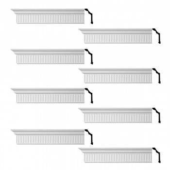 <PRE>Renovator's Supply Ornate Cornice White Urethane Sunderland Design 8 Pieces Totaling 768inch Length</PRE>zoom1