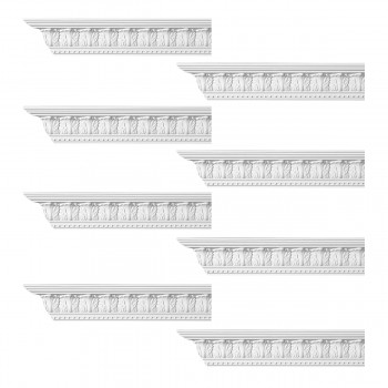 <PRE>Renovator's Supply Ornate Cornice White Urethane Haverford Design 8 Pieces Totaling 768inch Length</PRE>zoom1