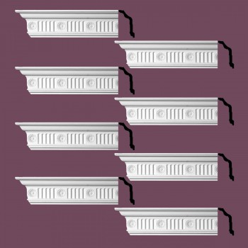 <PRE>Renovator's Supply  Ornate Cornice White Urethane Design 8 Pieces Totaling 768inch Length</PRE>zoom2