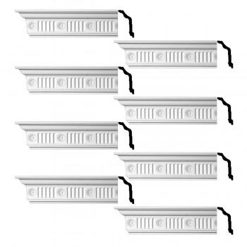 <PRE>Renovator's Supply  Ornate Cornice White Urethane Design 8 Pieces Totaling 768inch Length</PRE>zoom1