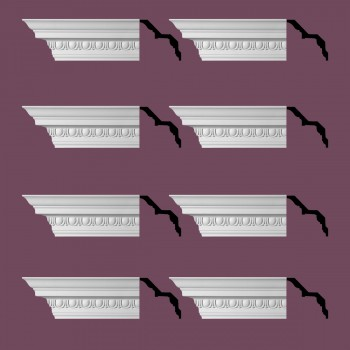 <PRE>Renovator's Supply Ornate Cornice White Urethane Saint Denis Design 8 Pieces Totaling 752inch Length</PRE>zoom2