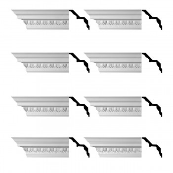 <PRE>Renovator's Supply Ornate Cornice White Urethane Saint Denis Design 8 Pieces Totaling 752inch Length</PRE>zoom1