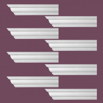 <PRE>Renovator's Supply Ornate Cornice White Urethane Corinth Design 8 Pieces Totaling 752inch Length</PRE>zoom2