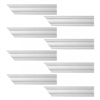 <PRE>Renovator's Supply Ornate Cornice White Urethane Corinth Design 8 Pieces Totaling 752inch Length</PRE>zoom1