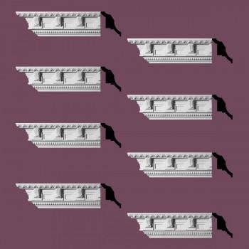 Renovators Supply Ornate Cornice White Urethane Edinburgh Design 8 Pieces Totaling 760 Length White PrePrimed Urethane Crown Cornice Molding Cornice Crown Home Depot Ekena Millwork Molding Wall Ceiling Corner Cornice Crown Cove Molding