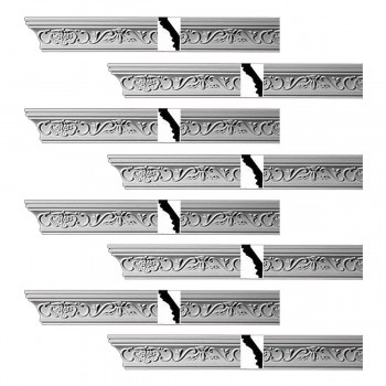 <PRE>Renovator's Supply Ornate Cornice White Urethane Lake Oswego Design 8 Pieces Totaling 754inch Length</PRE>zoom1