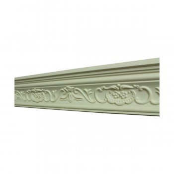 <PRE>Renovator's Supply Ornate Cornice White Urethane Amaryllis Design 8 Pieces Totaling 752inch Length</PRE>zoom3