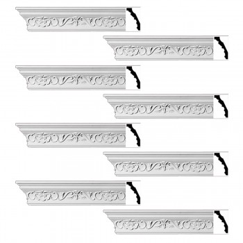 <PRE>Renovator's Supply Ornate Cornice White Urethane Amaryllis Design 8 Pieces Totaling 752inch Length</PRE>zoom1