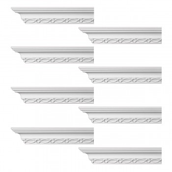 <PRE>Renovator's Supply Ornate Cornice White Urethane Great Barrington  8 Pieces Totaling 760inch Length</PRE>zoom1